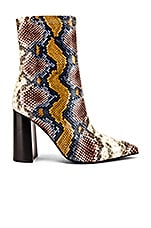 Jeffrey Campbell Siren Bootie in Grey Wine Snake