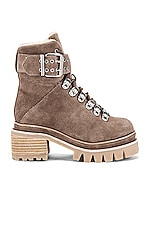 Jeffrey Campbell Czech Boot in Taupe Suede & Ivory