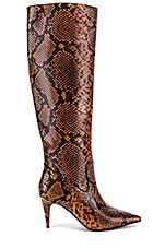 Jeffrey Campbell Parallel Boot in Brown Black Snake