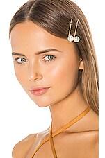 Jennifer Behr Gigi Bobby Pin Set in Crystal Antique Gold