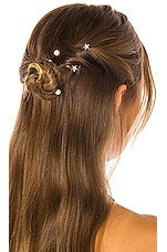 Jennifer Behr Oberon Bobby Pin Set in Crystal Antique Gold