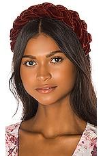Jennifer Behr Lorelei Headband in Terracotta