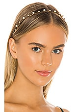 Jennifer Behr Ines Skinny Headband in Crystal & Pearl