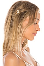 Jennifer Behr Pearla Bobby Pin Set of 7 in Gold