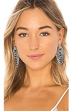 Jennifer Behr Seraphina Earrings in Crystal Gunmetal