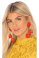 Jennifer Behr Poppy Earrings in Cayenne