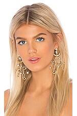 Jennifer Behr Lunetta Earrings in Crystal Antique Gold