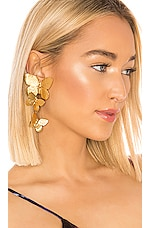 Jennifer Behr Alessandra Clip On Earrings in Gold