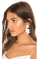 Jennifer Behr Sabine Earrings in Snow