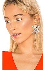 Jennifer Behr Crystal Orchid Earrings in Crystal