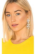 Jennifer Behr Clementine Earrings in Crystal