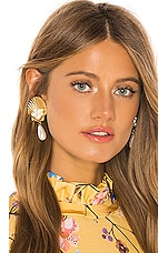 Jennifer Behr Positano Clip On Earrings in Gold