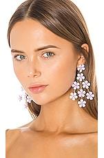 Jennifer Behr Marlie Chandelier Earrings in Lilac