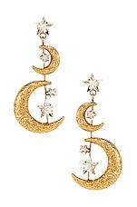 Jennifer Behr Vela Earring in Crystal Antique Gold