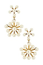 Jennifer Behr Monika Earring in Pearl & Gold