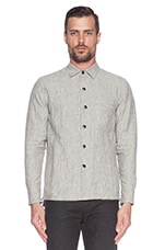 Snap Overshirt in Linen