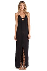Venetian Maxi Dress in Black