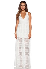 Ile De France Maxi Dress in Wilderness White