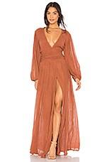 Jen's Pirate Booty Lapis Maxi Dress in Rust