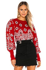 Jen's Pirate Booty Bandana Pullover in Red