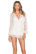 Wanderlust Lace Ara Playsuit in Natural