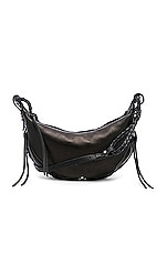 Jerome Dreyfuss Willy Small Shoulder Bag in Noir Silver