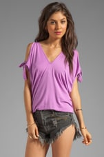 Mikki Arm Tie Top in Light Violet