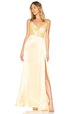 Jill by Jill Stuart Wrap Gown in Meringue