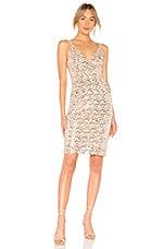 JILL JILL STUART Sequin Midi Dress in Champagne