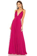 JILL JILL STUART Pleated Gown in Raspberry