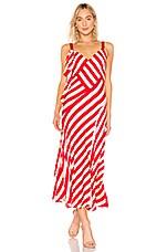 JILL JILL STUART Striped Maxi Dress in Hibiscus & Sand