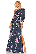 JILL JILL STUART One Shoulder Gown in Blue Multi