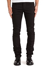 Damien Black Stretch Denim in Black