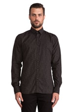 Dani Cl Plkt Krill Blacks Button Down in Almost Black
