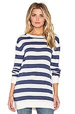 John & Jenn by Line Trey Striped Sweater in Ivory Slate