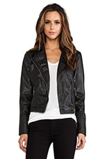 Nyla Rae Vegan Leather Jacket in Caviar
