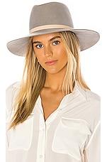 Janessa Leone Drew Hat in Silver Sand