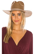 Janessa Leone Adriana Hat in Brown