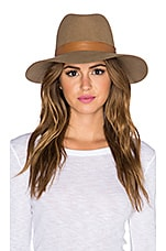 Clay Hat in Light Brown & Brown Leather