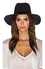 Janessa Leone Slate Hat in Raven & Gunmetal