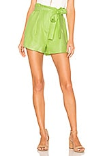 J.O.A. Waist Self Tie Shorts in Lime Green