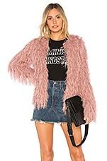 J.O.A. Shaggy Cardigan in Pink