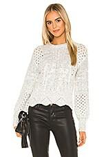 J.O.A. Scallop Sweater in Cream Multi