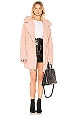 J.O.A. Reversible Shearling Coat in Dusty Pink