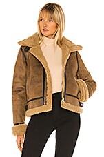 J.O.A. Faux Fur Coat in Umber