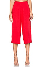 High Waisted Trouser in Red
