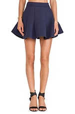 Neoprene Skirt in Navy
