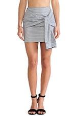 Two-Fer Striped Skirt in Navy Stripe