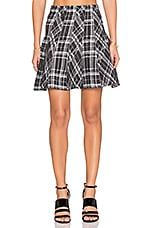 Plaid Mini Skirt in Grey