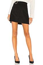 J.O.A. Belted Corduroy Mini Skirt in Black